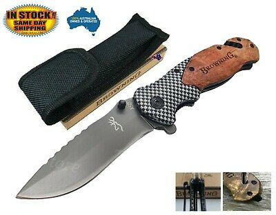Browning X50 Folding Opening Pocket Knife Hunting, Camping, Survival, Fishing AU