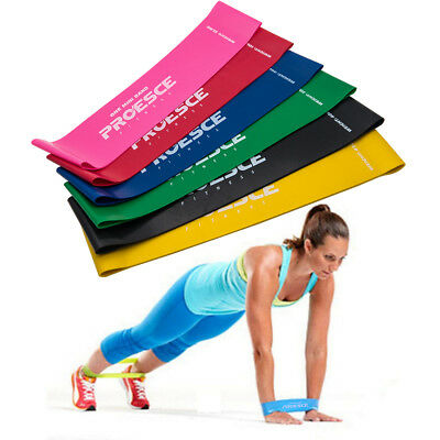 6pcs Resistance Loop Bands Mini Band Exercise Crossfit Strength Fitness GYM AU