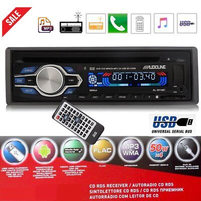 AUTORADIO LETTORE CD DVD MP3 FM AUX USB SD VIVAVOCE BLUETOOTH 120W 4 canali @XKA