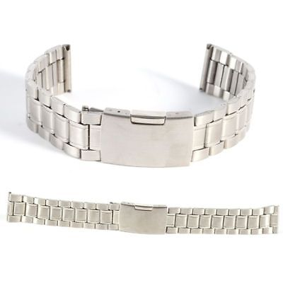 18/20/22mm Stainless Steel Metal Strap Silver Watch Band Bracelet Wristband UK