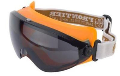 FRONTIER CLARITY Safety Goggles with SMOKE Lens Adjustable Elastic Strap