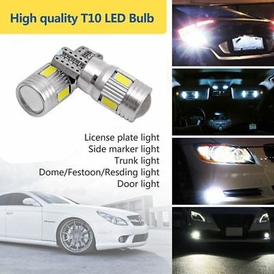 2x T10  6000K High Power White LED Daytime Fog Lights Bulb License Plate Light