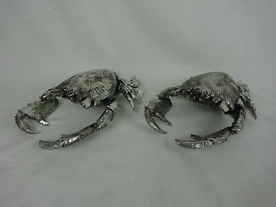 "2 Giant Spanner/ Frog Crabs ~Silver Tone Resin Model / Home Decor~ 13"" x 8"" x 4"""