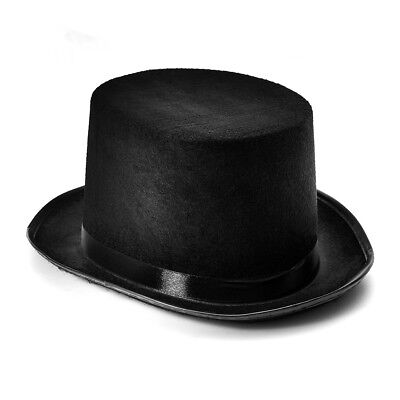 Tall Black Top Hat Magician Ringmaster Costume Hat Victorian Steampunk