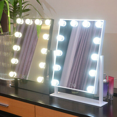 12 Led Large Vanity Mirror With Light Hollywood Makeup Mirror Wall Mounted Light