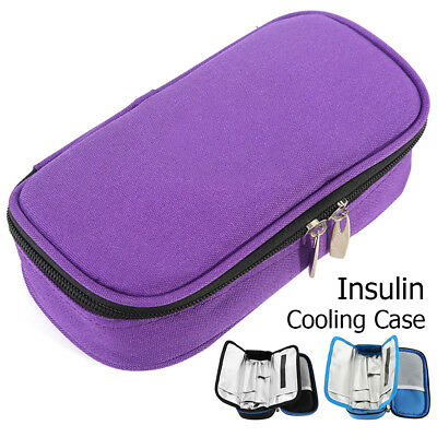 Portable Medical Travel Cooler Bag Diabetic Insulin Cooler Case With 2 ice bags