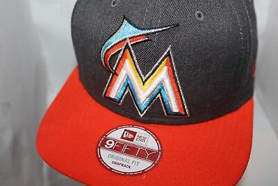 check out 8c8d9 e1bef Miami Marlins New Era MLB Heather Graphite 9Fifty,snapback,Hat,Cap   31.99