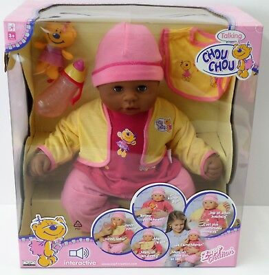 Zapf Creation Talking Chou Chou - Baby Puppe 2 Sprachen - 2006 - 48cm- NEU NEW