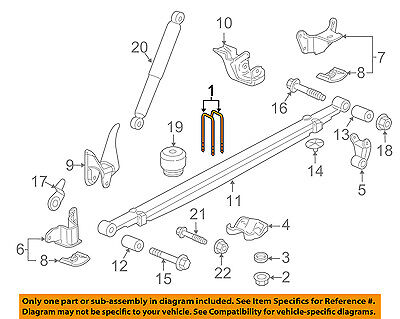 GM OEM Rear Suspension-U-bolt 11612212