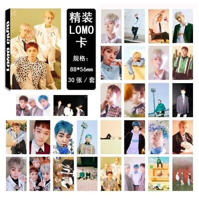 30pcs /set KPOP EXO CBX Blooming Days Photo Card Poster Lomo Cards Bookmark