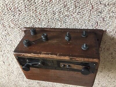 Atwater Kent type k system  Wood Coil Box for Antique Car Horseless Carriage