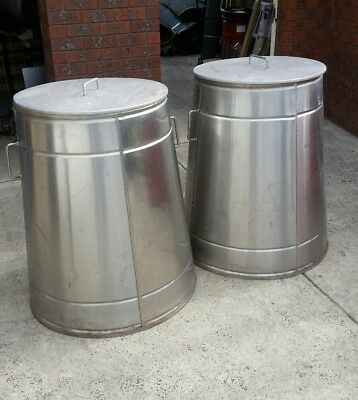 Stainless steel outdoor Compost Bin 350L, handles and lid