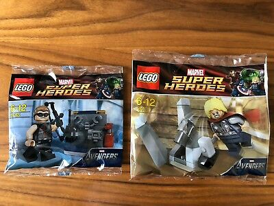 NEW LEGO THOR & HAWKEYE polybags MARVEL SUPERHEROES 30163 & 30165 minifigures