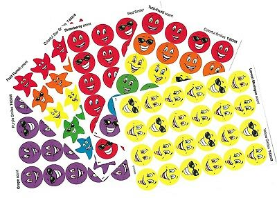 120 x scratch and sniff stickers - 5 assorted sheets - Inc Grape,fruit punch,etc