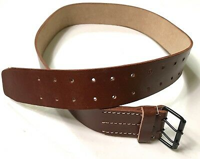 Wwi French M1903 M1914 Combat Field Belt-Brown Leather, Large