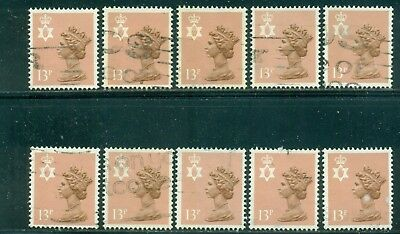 Great Britain Sg-Ni37, Scott # Nimh-21, Used, 10 Stamps, Great Price!