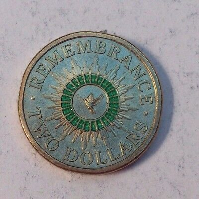 1 X 2014 $2 Remembrance Day Coin