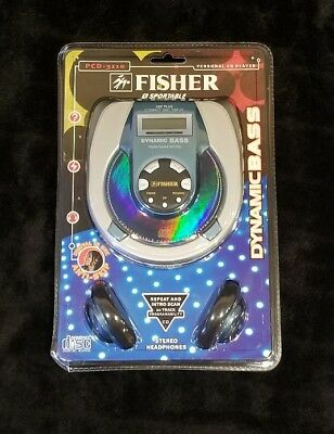 NEW Fisher PC-3110 Silver Dynamic Bass Portable CD Player