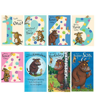 Gruffalo Birthday Cards Age Relation General Free 1st Class P P