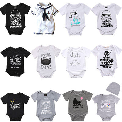 Newborn Infant Baby Girls Boys Bodysuit Romper Outfits Summer Sunsuit Clothes