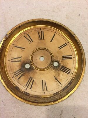 Antique Ansonia Gingerbread /  Parlor Clock Dial