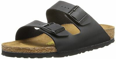 49f2a61cf79b Birkenstock Arizona Black Birko-Flor Womens Synthetic Leather Sandals