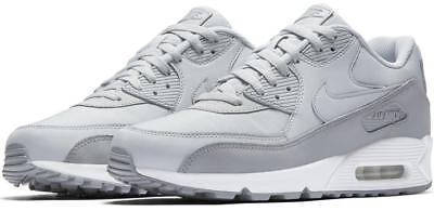 meet 6d731 8a485 Nike Air Max 90 Essential 537384 088 Wolf Greypure Platinumwhite -Leather