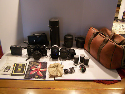Vintage Sears 2000 Es/35 Mm Slr Camera; Extra Lens And Attachments, Pre-Owned