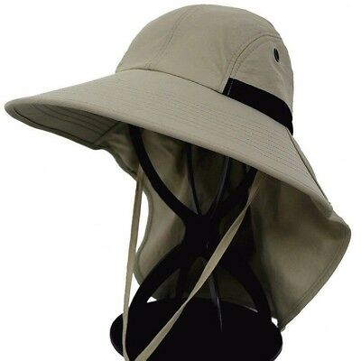 a17ee23f338 Men Lady Summer Fishing Caps Outdoor Travel Hats Wide Brim Sun Protect Neck  Flap