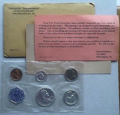 1963 Proof Set ~ Unopened, Clean Original Envelope ~ US Silver Mint Proof Coins