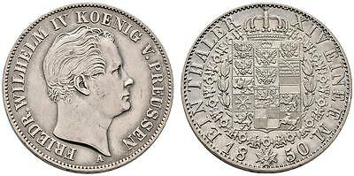 AC#SC Germany Prussia 1 Thaler Wilhelm IV 1850-A Silver Coin