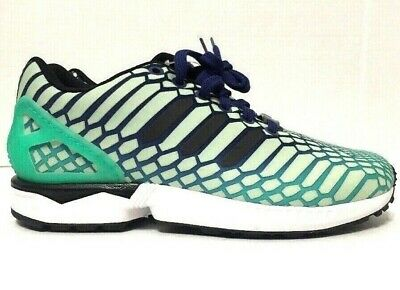 f29f5ce9b Adidas Zx Flux Xeno Running Shoes Glow In The Dark Green AQ8232 Youth Size  5-