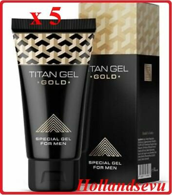 New Titan Gel - Titan Gel Gold, More Effective. 50 ml, 5 Pcs – Free shipping