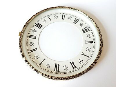 Brass Clock Bezel and Glass 130mm Roman Dial