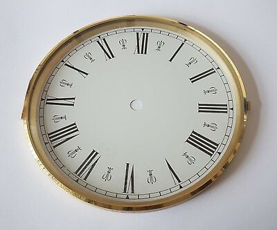 Brass Clock Bezel and Glass 180mm Roman Dial