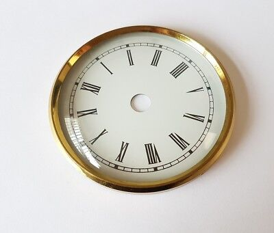 Brass Clock Bezel and Glass 88mm Roman Dial