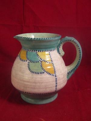 Beautiful Crown Ducal Charlotte Rhead Patch & Stich  Pattern Jug With 2 Chips
