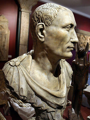 Julius Caesar Ancient Roman general museum Bust Sculpture Replica Reproduction
