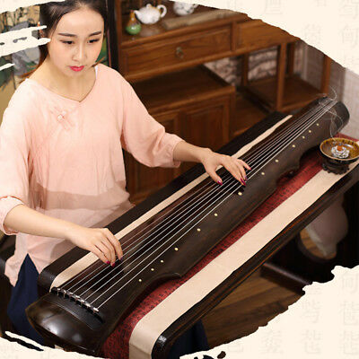 Professional Concert Chinese Aged Fir Guqin 7-Stringed Zither Instrument-(伏羲/仲尼)