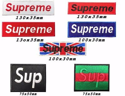 SUPREME BRAND LOGO Embroidery iron sew on Patch Badge