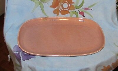 Steubenville Russell Wright American Modern Coral Platter Excellent!