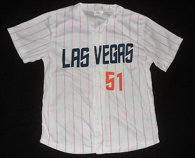 separation shoes d0dc4 c1873 LAS VEGAS 51S PINK STRIPED Cure Cancer NEW YORK METS AAA Minor League  JERSEY XL