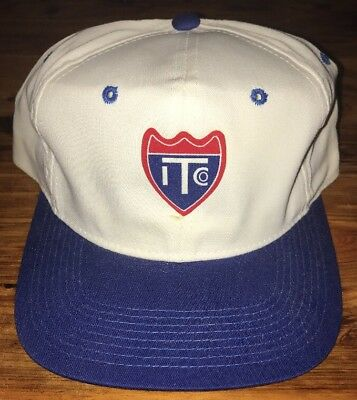 Vintage Interstate Chemical Company Snapback Hat White Blue Red Cap Free Ship