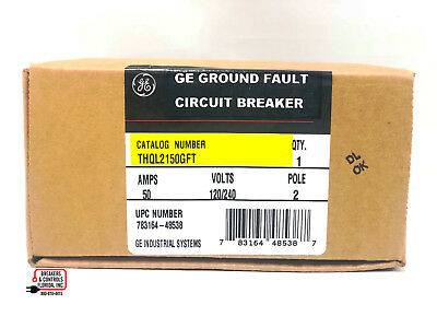Thql2150Gft 2 Pole 50 Amp 120/240 Volts General Electric New In Box