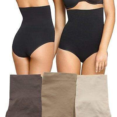 Yummie Tummie Womens Cameo Firm Control High Waist Shaping Smoothing Brief