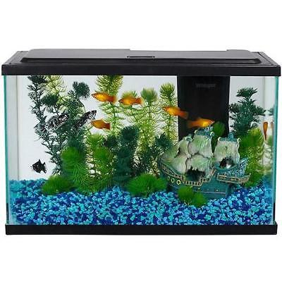 Aquarium Starter Kit Fish Tank 5 Gallon Led Light Aqua Culture Filter Terrarium
