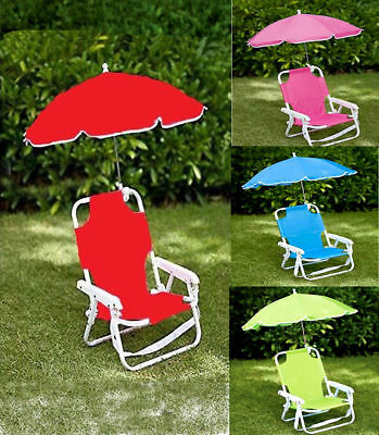f331d8818f2f Garden Kids Folding Chair with Parasol for Sun Protection 3+Blue,Pink,Green