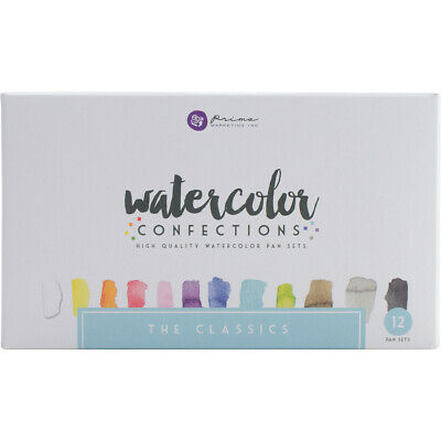 Prima Marketing Prima Watercolor Confections Watercolor Pans 12/Pkg-The Classics