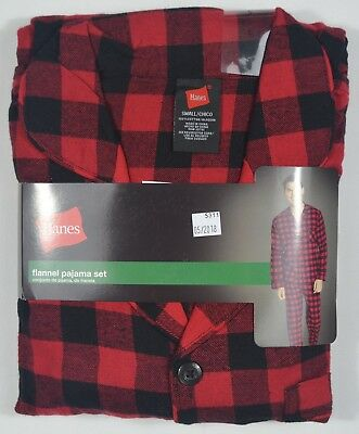 Hanes #5311 NEW Men's Plaid 100% Cotton Flannel Pajama Set