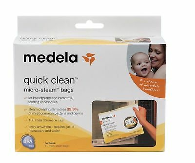 Medela Quick Clean Micro-Steam Bags - Package of 4 - Open Box